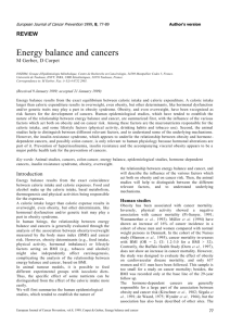 European Journal of Cancer Prevention 1999, 8, 77-89 - HAL