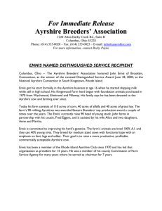 For Immediate Release - U.S. Ayrshire Breeders Association