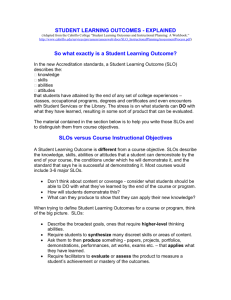 "(Adapted from the Cabrillo College ""Student Learning Outcomes"