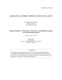 Proposed updates to VDL Mode 3 protocols to accommodate