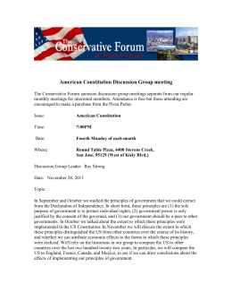 American Constitution Discussion Group meeting