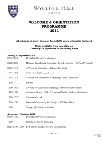 New Students Orientation Programme