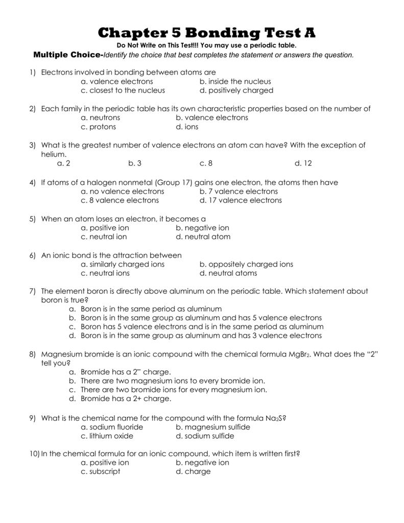 Chapter 5 Bonding Test