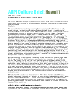 AAPI Culture Brief: Hawai`i - National Technical Assistance Center