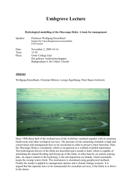 Hydrological modelling of the Okavango Delta: A basis for