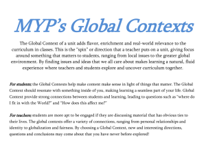 Global Context One Page