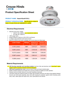 Product Specification Sheet PRODUCT NAME: Hazard•Gard® EVLL