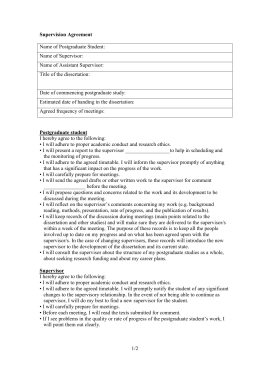 thesis supervision agreement Fill out thesis co-supervision technical form (doc) (pdf) send the documents in fact, a certain time lag may occur however, the co-supervision agreement must be signed before or at the beginning of the student's studies.