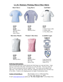 Styles and colors of Micro Fiber Shirts offered