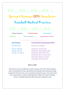Spring & Summer 2015 Newsletter Rosehall Medical Practice