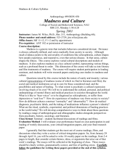 Madness and Culture - Society for Medical Anthropology