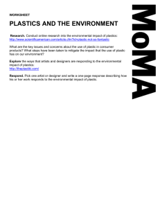"""Plastics and the Environment"" Worksheet"