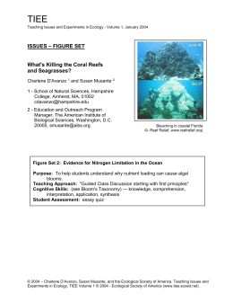 coral_fig2 - Teaching Issues and Experiments in Ecology