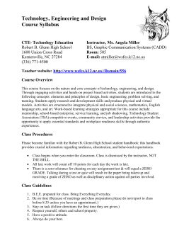 Technology Engineering and Design Syllabus