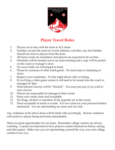 PCU Player Travel Rules