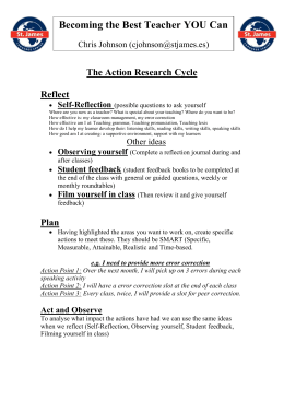 The Action Research Cycle Reflect Self