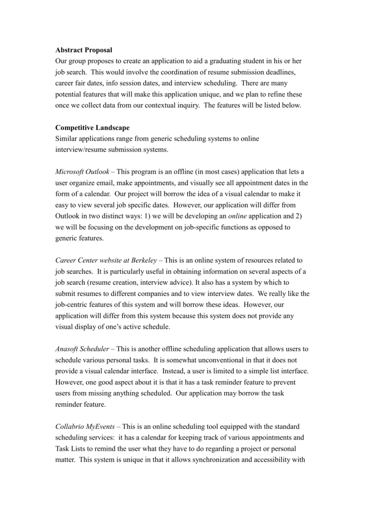 Abstract Proposal - University of California, Berkeley
