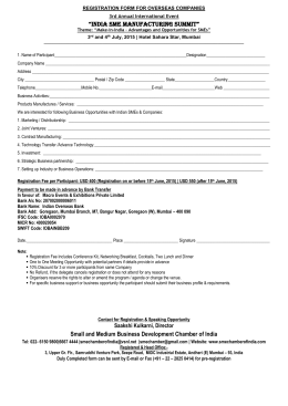 SUMMIT REGISTRATION FORM – INDIAN