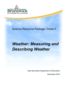 Weather - Measuring and Describing Weather