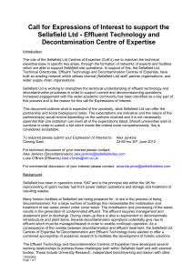 Call for Expressions of Interest: Sludge Centre of