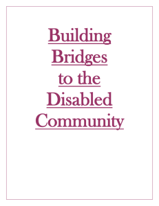 Building Bridges to the Disabled Community