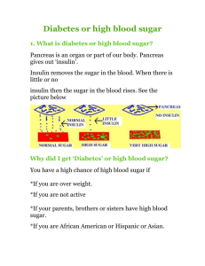 Diabetes or high blood sugar