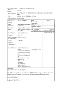 Bid Notice Abstract Request for Quotation (RFQ) Reference Number
