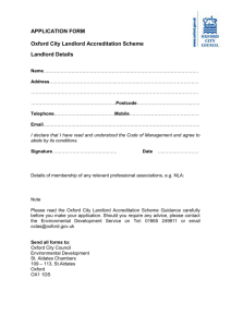 application form - Oxford City Council