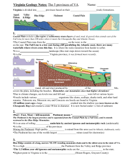 Virginia Geology Notes: