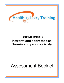 interpret and apply medical terminology appropriately