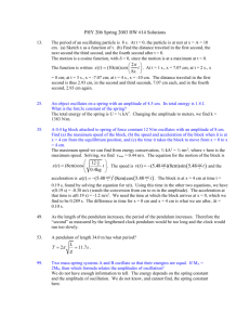 Solutions for HW #14