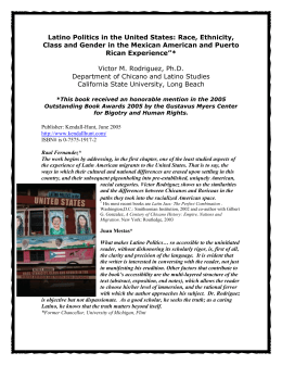 Latino Politics in the United States: Race, Ethnicity, Class and