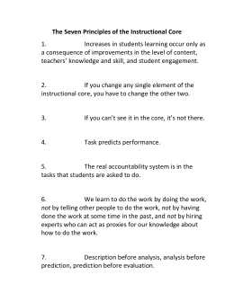 The Seven Principles of the Instructional Core