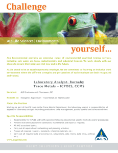 ALS Environmental provides an extensive range of environmental