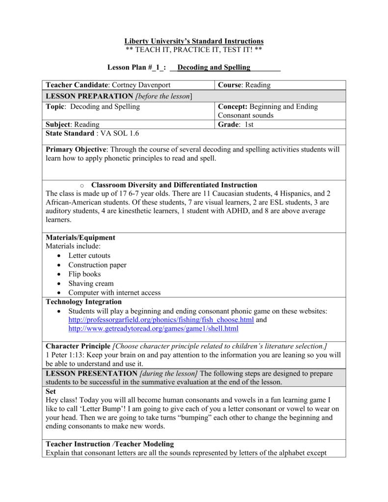 Lesson Plan Readinggr1