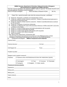 Risk Assessment Form for samples from HEDM Lab