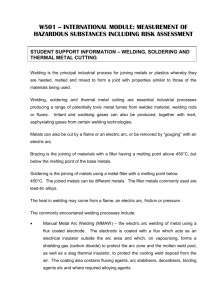 Student Support Info Welding Soldering And Thermal Metal Cutting