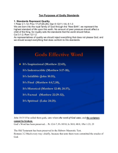 God`s Effective Word