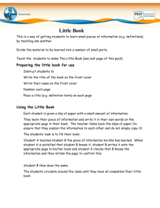 How to create and use the Little Book