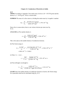 Chapter 41: Conduction of Electricity in Solids 41