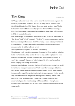The King worksheet A