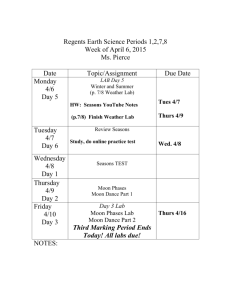 Regents Earth Science Periods - Red Hook Central School District