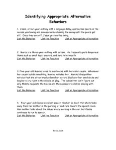 Identifying Appropriate Alternative Behaviors