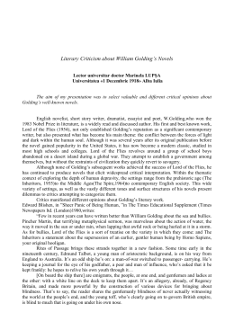 Literary Criticism about William Golding`s Novels