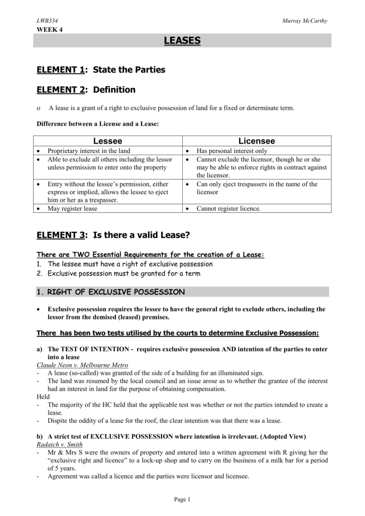 Property Wk4 Leases