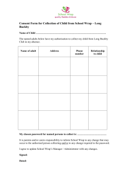 School Wrap Consent Form for collection of child (3) LB