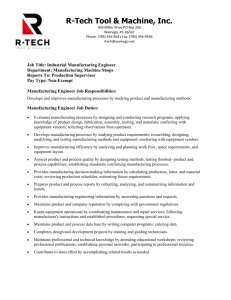 R-Tech Tool & Machine, Inc - Coffeyville Community College