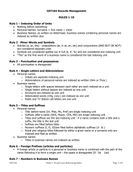 Rules and Cross Referencing Handout