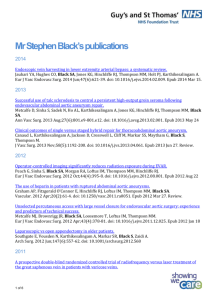 Mr Stephen Black`s publications