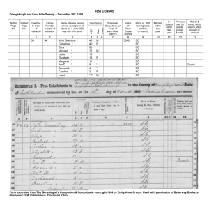 1850 CENSUS - SO